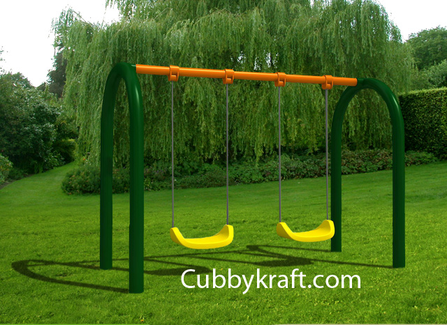 Twin-Swing Swingset