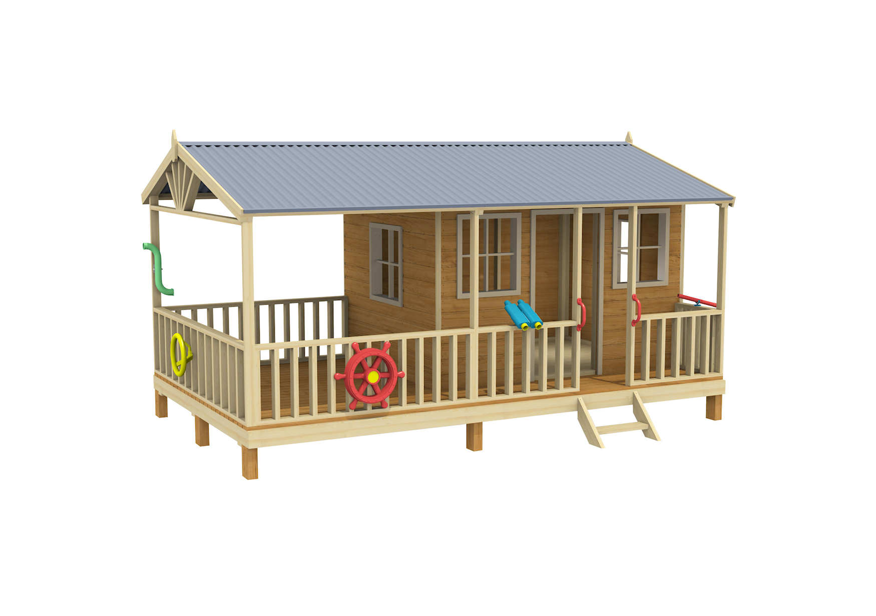 cool tree houses, backyard playsets, cubby house, Tumbleweed Lodge