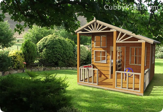 Alpine Lodge, kids cubby houses, cubby house, Alpine Lodge Cubby House
