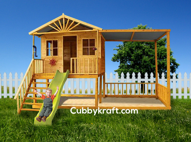 Birchwood Cubby, outdoor playground equipment, cubby house, Birchwood Cubby House