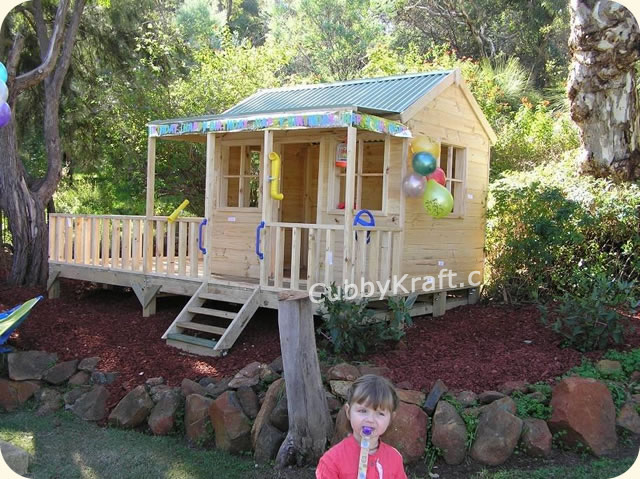 Kettle Creek, diy wooden playhouse, cubby house, Kettle Creek Cubby House