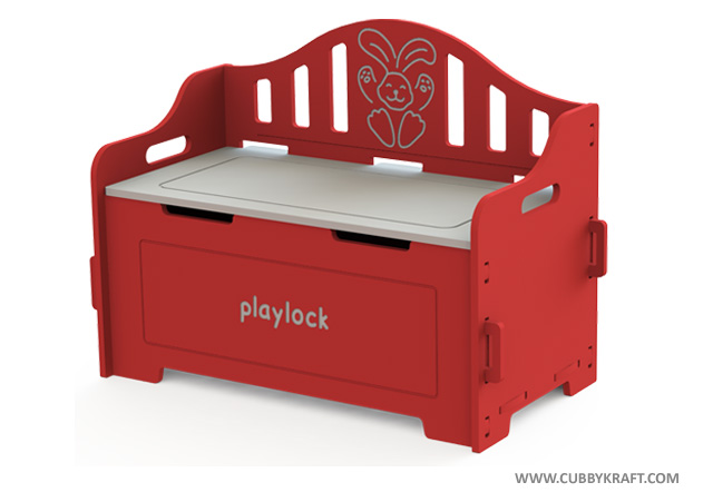 playlock, Red Toy Chest kids toys, kids furniture