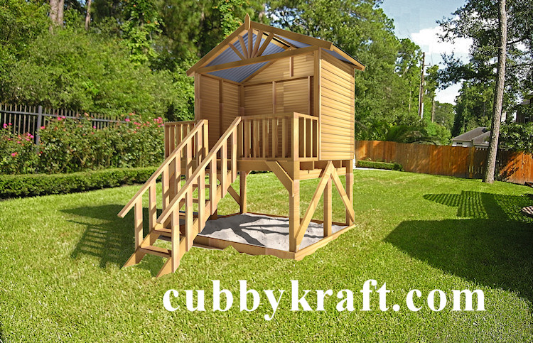 Blue Cockatoo, outdoor playground equipment, cubby house, Red Cloud Cubby House