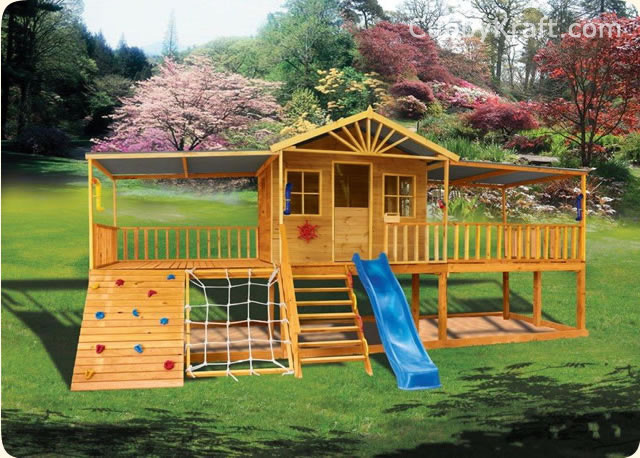 Sandalwood Lodge, outdoor playground equipment, playhouse, cubby house, Sandalwood Lodge Cubby House