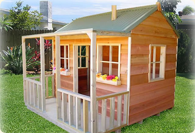 Wallaby Lodge, kids outdoor playhouses, cubby house, Wallaby Lodge Cubby House